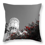 Red And White Contrast Throw Pillow