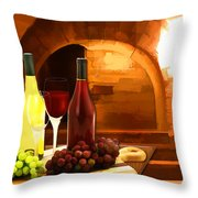 Red And White In The Cellar Throw Pillow