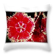 Red And White Mum Throw Pillow
