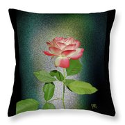 Red And White Rose5 Cutout Throw Pillow