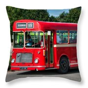 Red And White Rs 167 - Bristol Resl6l #1 Throw Pillow