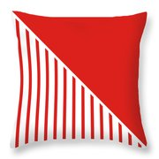 Red And White Triangles Throw Pillow by Linda Woods