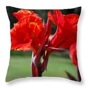 Red And Yellow Asiatic Lilies Throw Pillow