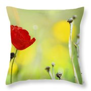 Red And Yellow Throw Pillow by Guido Montanes Castillo