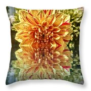 Red And Yellow Reflection Throw Pillow