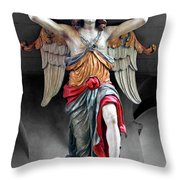 Red Angel One Throw Pillow