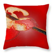 Red Apple Throw Pillow