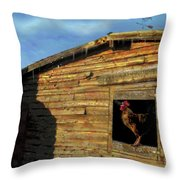 Red Arrow Corral Throw Pillow