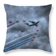 Red Arrows And A400m Airbus Throw Pillow