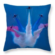 Red Arrows At Airbourne 2010 Throw Pillow