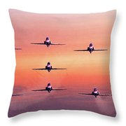Red Arrows At Dawn Throw Pillow