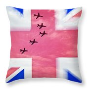 Red Arrows Flag Throw Pillow