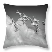 Red Arrows Sky High Bw Version Throw Pillow