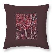 Red Aspen Throw Pillow