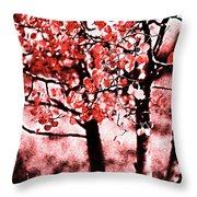 Red Aspen II Throw Pillow