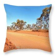 Red Australia Throw Pillow