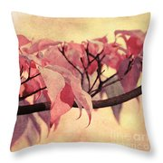 Red Autumn Day Throw Pillow