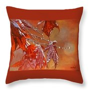 Red Autumn Throw Pillow