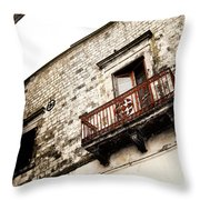 Red Balcony Throw Pillow