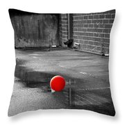 Red Balloon I Throw Pillow
