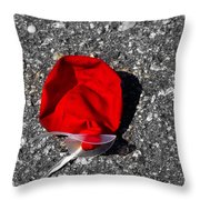 Red Balloon II Throw Pillow
