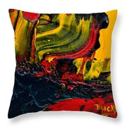 Red Balloon In The Storm Throw Pillow