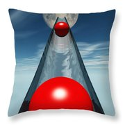 Red Balls From Space Throw Pillow
