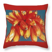 Red Bananas Of Jocotepec Throw Pillow