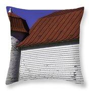 Red Barn Close Up Throw Pillow