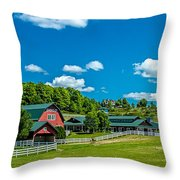 Red Barn On Hoyt Road Throw Pillow