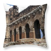 Red Basilica Scene 3 Throw Pillow