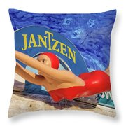 Red Bathing Suit Throw Pillow