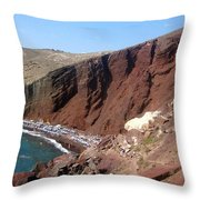 Red Beach Conclave 2  Throw Pillow