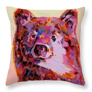 Red Bear Throw Pillow