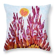 Red Beauties In The Garden Throw Pillow
