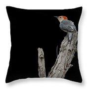 Red-bellied Woodpecker Portrait Throw Pillow