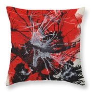 Red Black White Throw Pillow