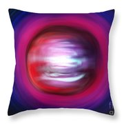 Red-black-white Planet. Twisted Time Throw Pillow