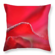 Red Blossom 3 Throw Pillow