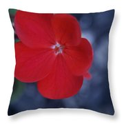 Red Blossoms Throw Pillow