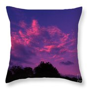Red Blue Sky Throw Pillow