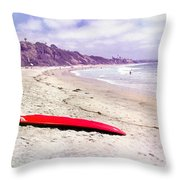Red Board Throw Pillow
