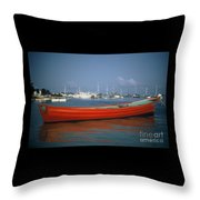 Red Boat Mexico Throw Pillow