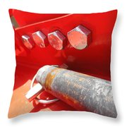 Red Bolt Action Throw Pillow
