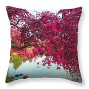 Red Bower Throw Pillow