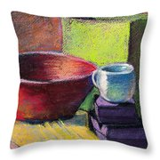 Red Bowl Throw Pillow