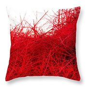 Red Expression Throw Pillow