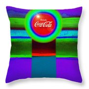 Red Brand Throw Pillow