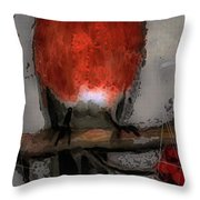 Red Breasted Throw Pillow