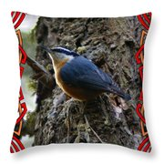 Red Breasted Nuthatch 2 Throw Pillow